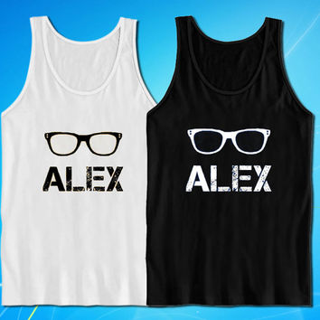 Alex eye glasses tank top for mens and womens