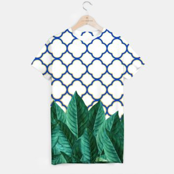 Leaves and Tiles T-shirt, Live Heroes