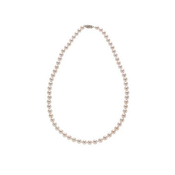 6-6.5mm White Akoya (saltwater) Fine Pearl Necklace AAA