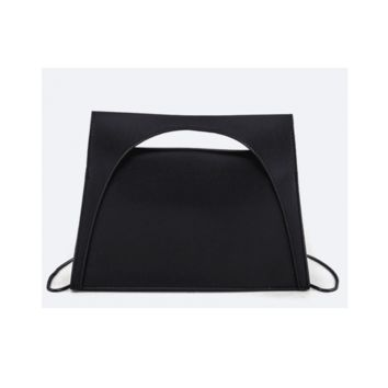 Black Structured Top Handle Bag