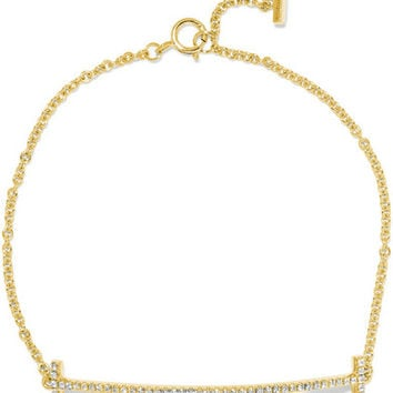 Tiffany & Co. - T Smile 18-karat gold diamond bracelet