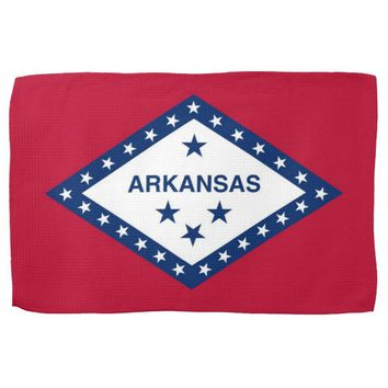 Kitchen towel with Flag of Arkansas, U.S.A.