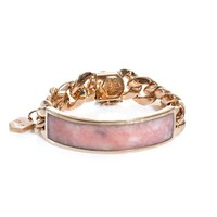 Pink opal and gold-plated ID bracelet | Ann Dexter-Jones | MAT...