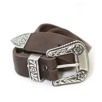Brave Leather Ltd. Isabeli Leather Belt in Raw Washed Brown | Boutique To You