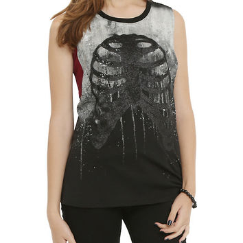 Dripping Rib Cage Girls Muscle Top