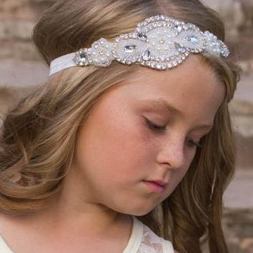 Scarlett Ivory Crystal Jewel Headband