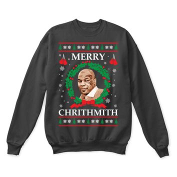 ONETOW Merry Chrithmith! Mike Tyson Boxing Ugly Christmas Sweater