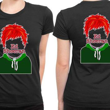 DCCKL83 Ed Sheeran Hair Colour 2 Sided Womens T Shirt