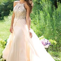 Keyhole Chiffon Dress 22084 - Prom Dresses