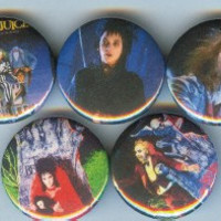 BEETLEJUICE buttons horror movie goth tim burton pin pinback badges accessories spooky