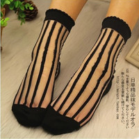 Explosion models magazine article bars transparent crystal glass stockings socks sister Lolita soft imitation Sew WSD1130