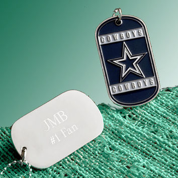 NFL Charms, Personalized Dog Tag Necklace, NFL Football Teams, Military Dogtags, New York Giants, NFL Jersey, Gift for Men, Necklace for Boy