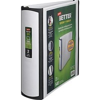 """2\"""" Staples® Better® View Binder with D-Rings, White 