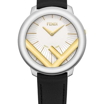 Ladies Black Strap Motif Timepiece by Fendi