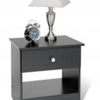 Prepac Black Night Stand