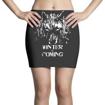 game of thrones direwolf winter is coming Mini Skirts