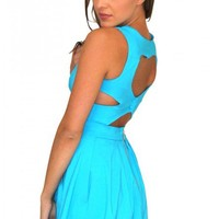 Femme Fatale dress in blue  | Show Pony Fashion online shopping