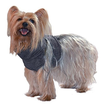 American Dog Apparel Fleece Neck and Chest Warmer for Dogs, XX-Small, Charcoal