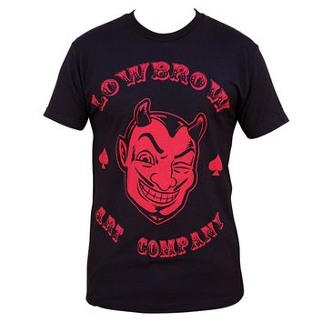 Lowbrow Art Company Red Devil Men's Artwork Black T-shirt