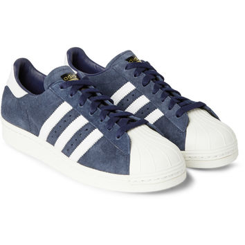 adidas Originals - Superstar 80s DLX Suede Sneakers | MR PORTER