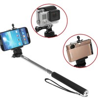 iKross Monopod Selfie Handheld Extendable Stick Pole with Mount Holder and Tripod Adapter For Gopro HERO 1 2 3 3+ 4 Hero4 HERO4 Session, iPhone 5SE/6/6S 6 Plus/6S Plus, Smartphone, Window Phone, Compact Digital camera