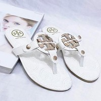 Tory Burch Trending Women Leisure Sandal Slipper Shoes White I12994-1