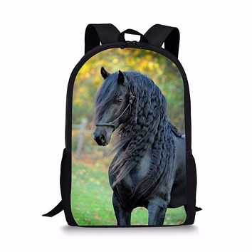 FORUDESIGNS New 2018 Handsome Horse School Bag for Teenager Girls Primary Kids Backpack Tumblr Notebook Satchel Mochila Infantil