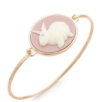 Marc by Marc Jacobs Bunny Cameo Hinge Cuff Bracelet | SHOPBOP