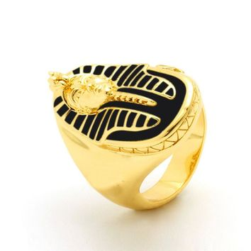 Retro Style Egyptian Pharaoh Ring