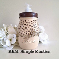 Painted Mason Jar Soap Dispenser