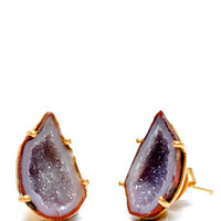 Dark Geode Earrings | LEIF