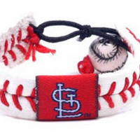 Gamewear MLB Leather Wrist Band - Cardinals