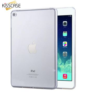 KISSCASE Crystal Clear TPU Silicone Back Case For iPad Mini 4 Case Fashion Transparent Smart Cover For iPad 4 Mini Tablets Case