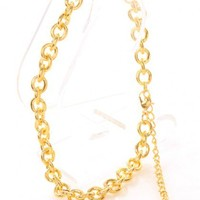 Gold Linked O-Ring Anklet