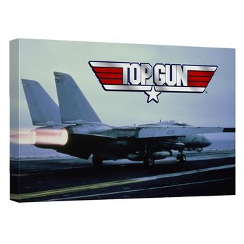 Top Gun - Take Off Canvas Wall Art With Back Board