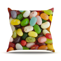 "Libertad Leal ""I Want Jelly Beans"" Outdoor Throw Pillow"