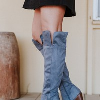 Overland Knee High Boot - Gray