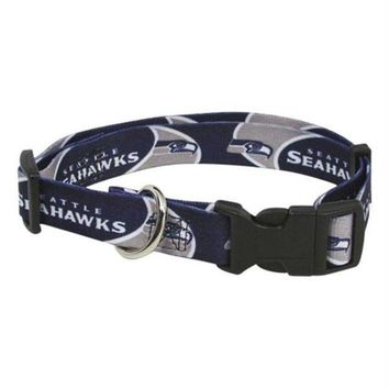 LMFON Seattle Seahawks Dog Collar