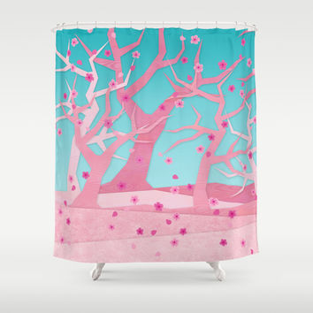 Spring trees Shower Curtain by EDrawings38