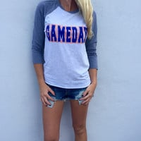 Round Neck Letter Print T Shirt