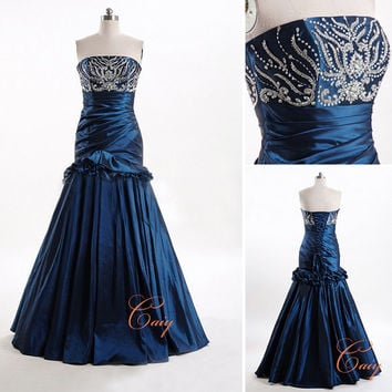 Taffeta Mermaid lowcorset prom homecoming dress by CAIY on Etsy