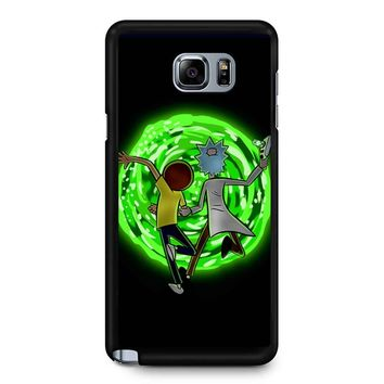 Rick And Morty Portal 2 Samsung Galaxy Note 5 Case