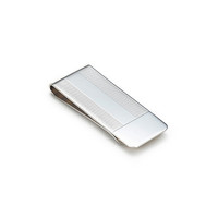 Tiffany & Co. -  Engine-turned money clip in sterling silver.