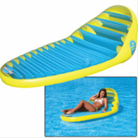 SportsStuff 54-1660 Banana Beach Pool Lounge Inflatable Yellow & Blue