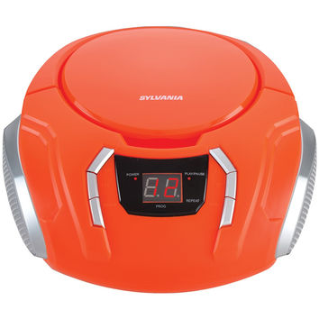 Sylvania Portable Cd Players With Am And Fm Radio (orange)