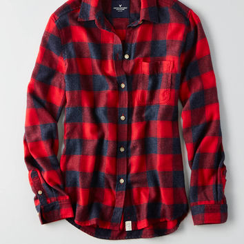 AEO Ahh-mazingly Soft Boyfriend Shirt, Red