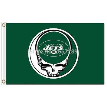 New York Jets Stealing Your Face Flag 3x5FT NFL banner 100D 150X90CM Polyester brass grommets custom66,free shipping