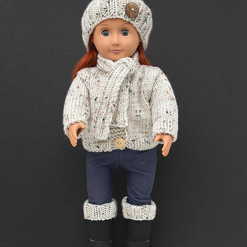 cute doll cap wool hat handmade knit sweater Headwear for  Doll HU