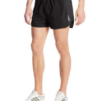 2XU Men's Training Running 2-1/2-inch Semi-Split Leg Shorts - 2XL, Black/Black