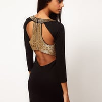 ASOS Bodycon Dress With Embellished Back at asos.com